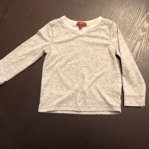 NWOT - 7 For All Mankind Grey Long Sleeve 2T